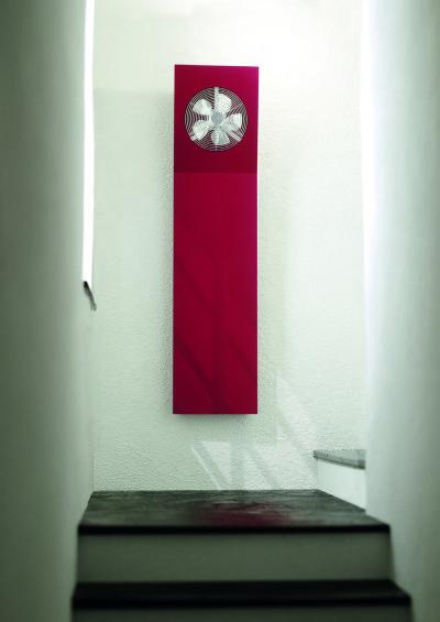 radiador rojo aria ventilador diseño