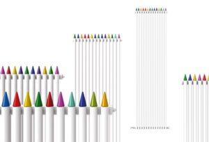 radiador niños gracioso lapices colores