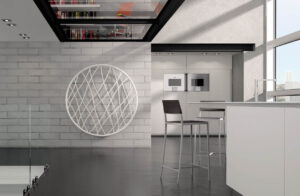 radiador redondo moderno blanco medusa