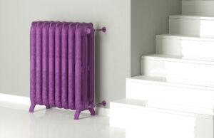 radiador clasico dibujos morado