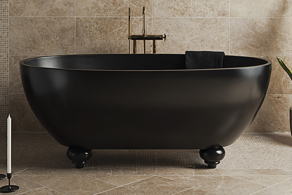 Bañera clásica exenta negra